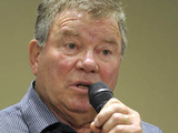 William Shatner at a Q&A session with fans during the FanExpo held at the Metro Toronto Convention Centre, Canada.