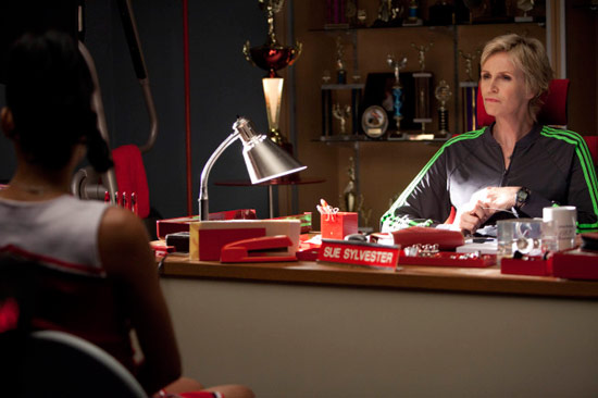 "Sue and Santana chat in ""Audition"""