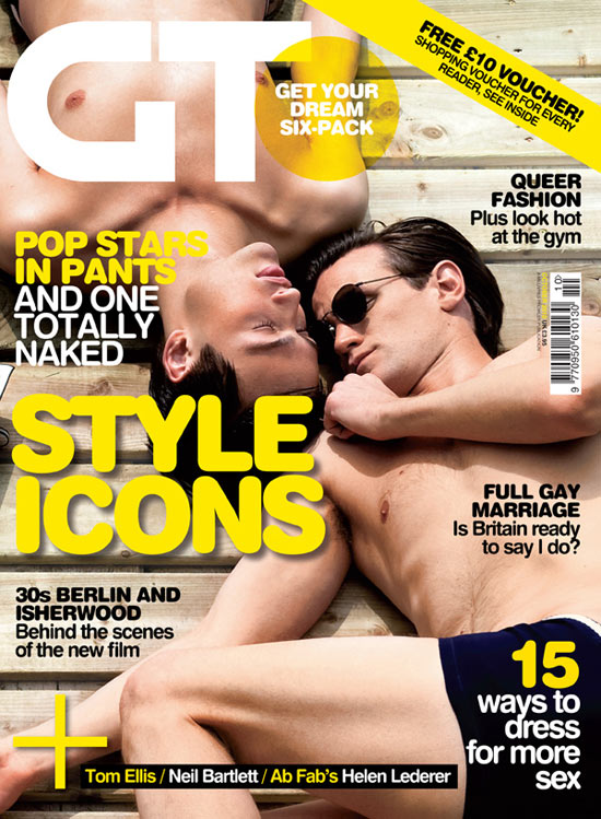Matt Smith and Douglas Booth on the cover of Gay Times