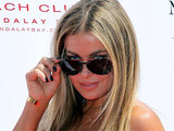 Carmen Electra arriving at a Labour Day pool party held at the Mandalay Bay Resort in Las Vegas, Nevada