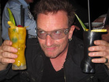 Bono and the rest of U2 enjoy a night out at Reina, Istanbul