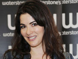 Nigella Laweson signs copies of her book 'Kitchen' in Waterstones