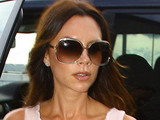 Victoria Beckham arriving at an airport in London