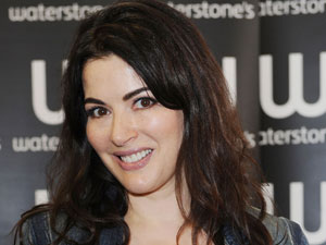 Nigella Laweson signs copies of her book &#39;Kitchen&#39; in Waterstones