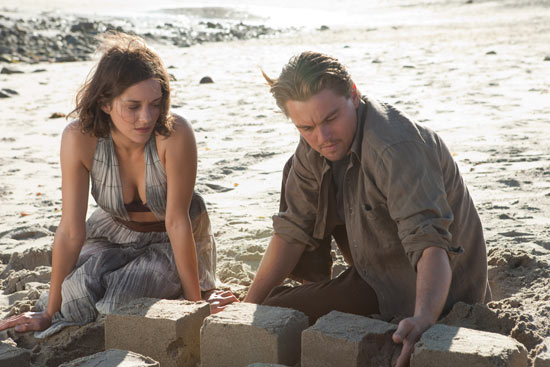 Marion Cotillard and Leonardo DiCaprio in Inception
