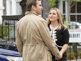 Tanya and her new boyfriend, Greg, arrive in the Square. Tanya suggests Greg goes to the cafe whilst she speaks to Lauren.
