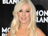 Christina Aguilera attending the global launch of Montblancs John Lennon Commemorative Pen Rose in New York City