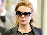 Lindsay Lohan arriving at Beverly Hills Courthouse after failing a drug test
