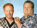 Modern Family's Jesse Tyler Ferguson and Eric Stonestreet film an anti-bullying PSA.