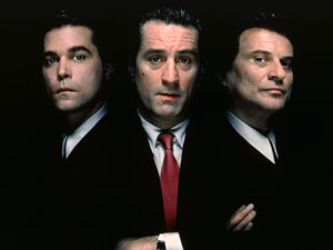 Ray Liotta, Robert De Niro and Joe Pesci, stars of 'Goodfellas'