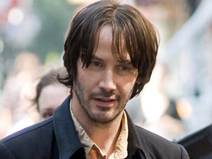 Keanu Reeves ont he set of his new film 'Generation Um'