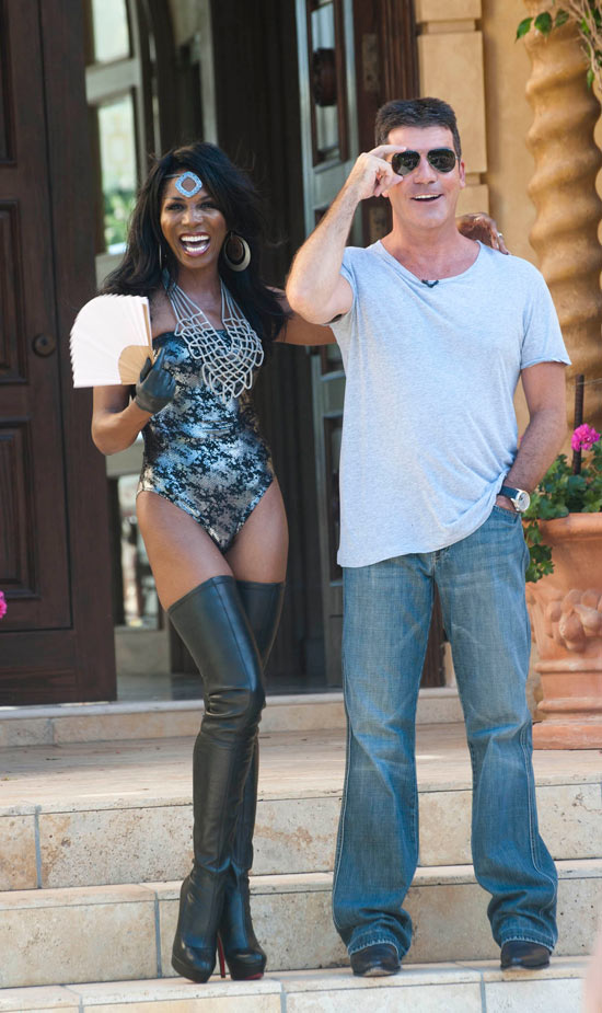 Sinitta and Simon at judges houses