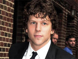Jesse Eisenberg greeting fans outside of New York City's Ed Sullivan Theatre