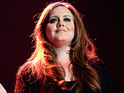 Adele's live performance at the Brit Awards storms to number one on the download chart.