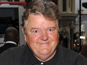 Robbie Coltrane at the Gala night of the stage version of &#39;Yes, Prime Minister&#39;