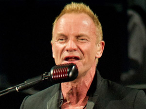 Sting in concert at the Bercy 