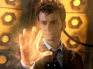 The Tenth Doctor begins to regenerate in Doctor Who: The End of Time Part 2