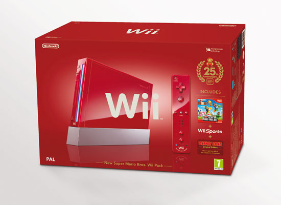 Red Nintendo Wii bundle