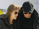 Brad Pitt visits Angelina Jolie on the set of her new movie