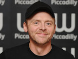 Simon Pegg signs copies of his new book at Waterstone's, Piccadilly
