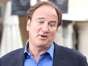 Jim Belushi during an interview for the entertainment show 'Extra'