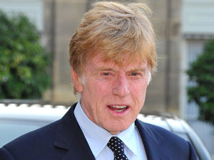 Robert Redford arrives at the Elysee Palace where he is awarded Knight in Order of Honor