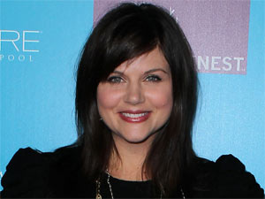 Actress Tiffani Thiessen celebrating the launch of 'PetitNest' in Las Vegas