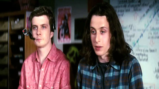 Erik Knudsen (with camera head-set) and Rory Culkin.