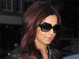 Cheryl Cole arriving at the BBC Radio 1 studios in London