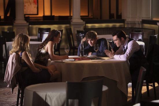 Serena Van Der Woodsen, Blair Waldorf, Nate Archibald and Chuck Bass