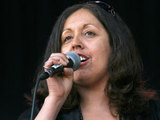 Poly Styrene performing at Love Music Hate Racism Carnival
