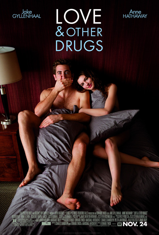 &#39;Love & Other Drugs&#39; poster starring Jake Gyllenhaal