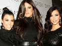 Kourtney, Rob and Khloe Kardashian support sister Kim as she announces divorce.
