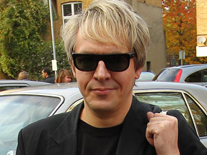 Nick Rhodes arriving at a recording studio in South London