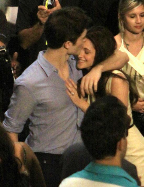 Robert and Kristen hug