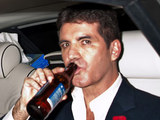 Simon Cowell leaving the Pride of Britain awards looking worse for wear
