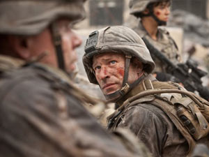 Aaron Eckhart in 'Battle: Los Angeles'