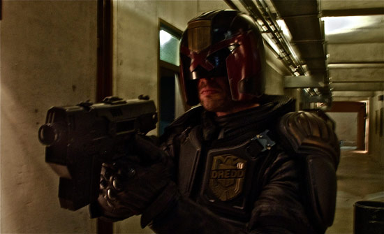 First picture of Karl Urban as Judge Dredd
