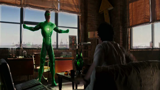 ...to the mighty Green Lantern!