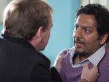 A raging Ian knocks on Masood&#39;s door to tell him what he really thinks.