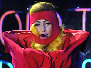 Lady GaGa performing live at the O2 Arena in Prague, Czech Republic