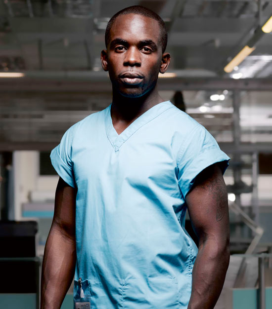 Antoine Malick from Holby City
