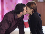 As Ryan and Stacey start to tidy, he tries to kiss her.