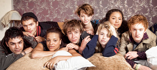 Skins cast in Disorder Magazine