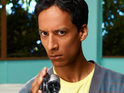 Watch a video of Community's Abed acting as an extra in Cougar Town.