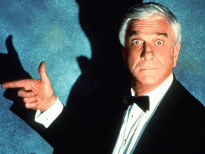 Leslie Nielsen as Frank Drebin in 'The Naked Gun 2 1/2'