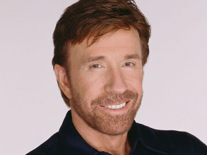 Action movie and TV star Chuck Norris