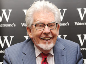 Rolf Harris at a signing for his new book 'A Life in Art' at a Waterstones store in Bluewater, Kent