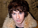 Luke Pritchard of The Kooks arrives at Dean Street Studios to record 'Cage Against the Machine'