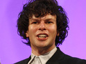 "Simon Amstell reveals that his kiss with co-star Oliver Coopersmith was ""tense""."